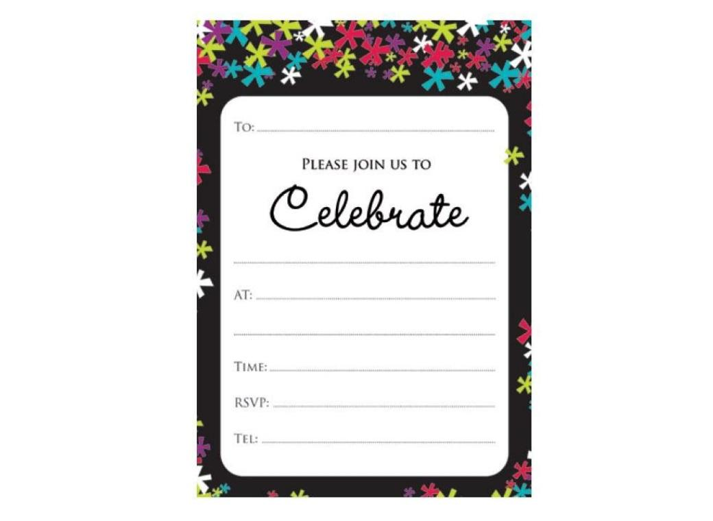 Confetti Celebration Invitations