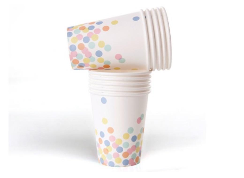 Confetti Paper Cups - 10pk
