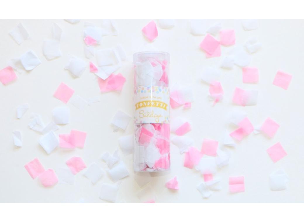 Confetti - Pink & White
