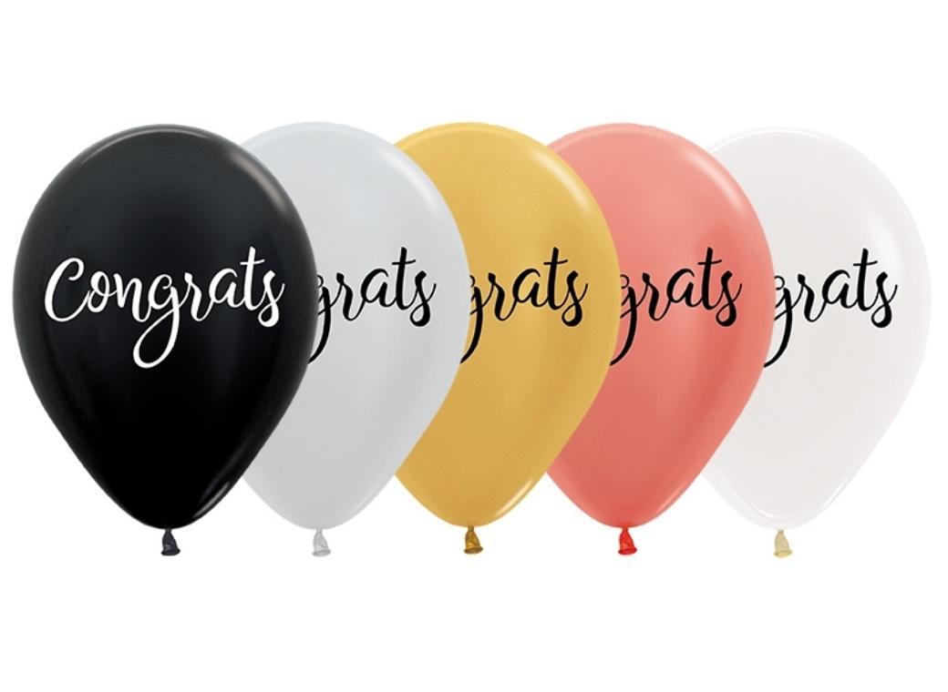 Congrats Balloons 5pk