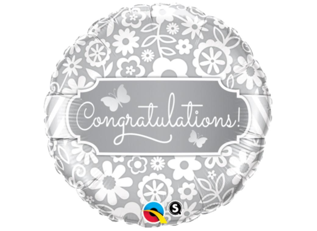 Congratulations Butterflies Foil Balloon