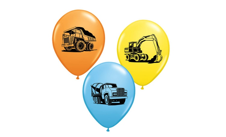 Construction Balloons - 5pk