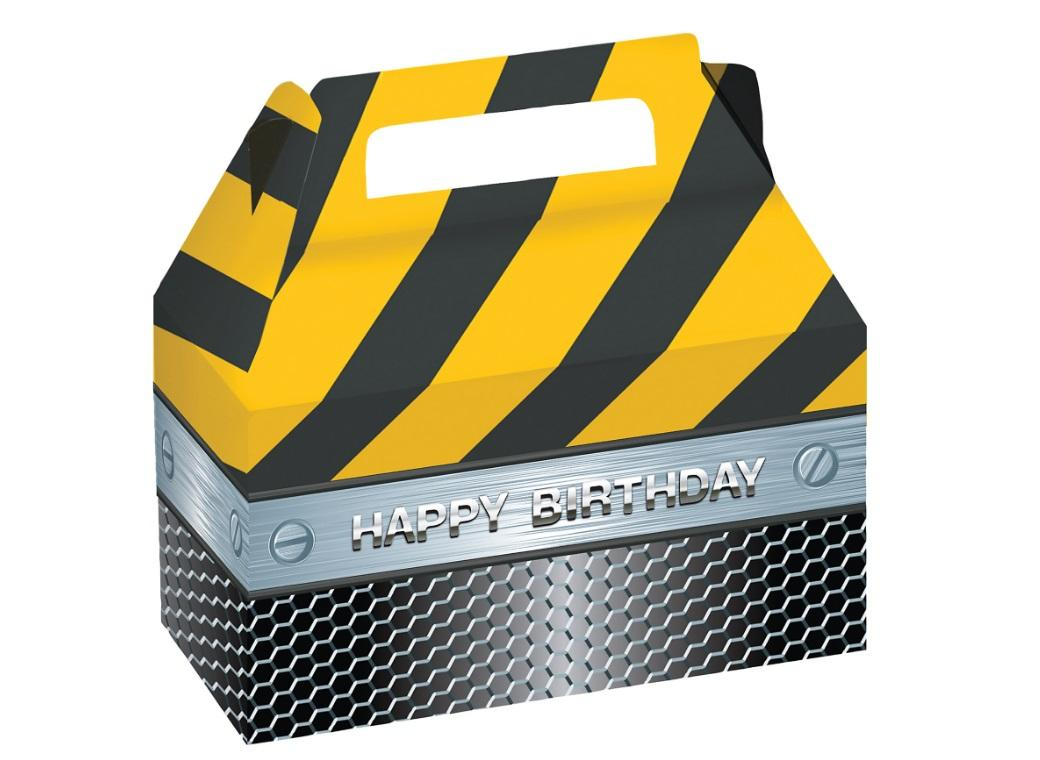Construction Birthday Zone Treat Boxes