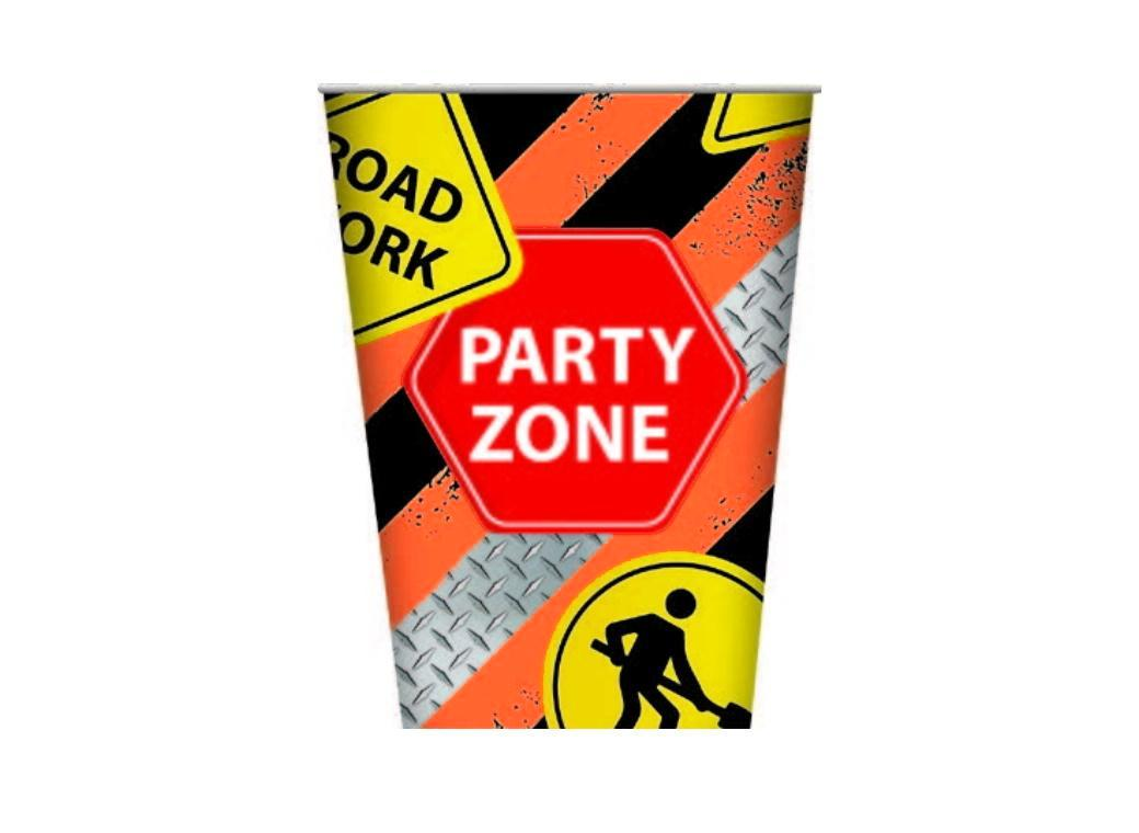Construction Party Cups 8pk