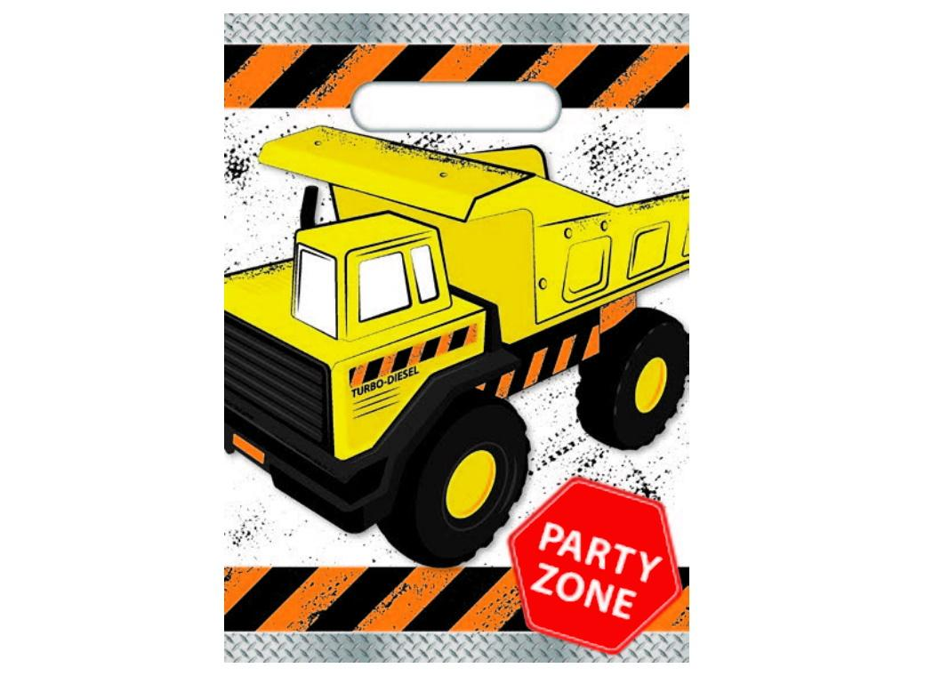 Construction Party Bags 8pk