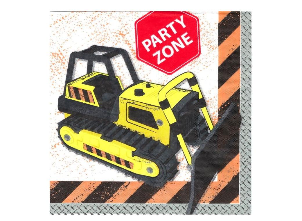 Construction Party Napkins 20pk