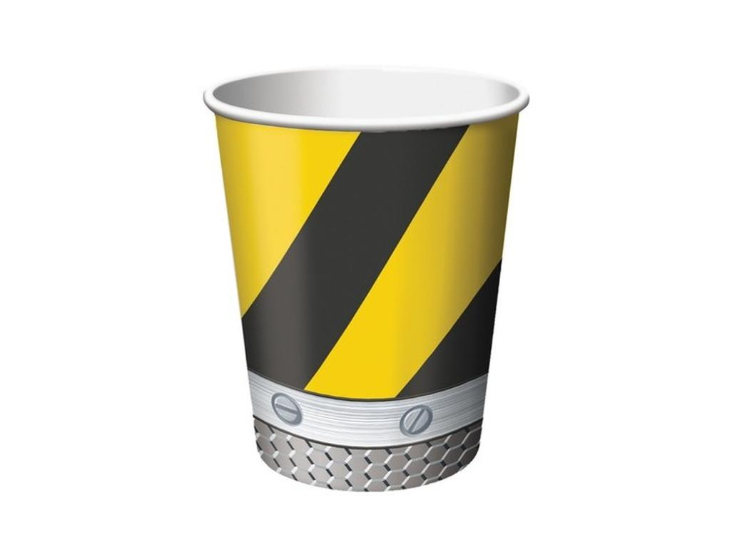 Construction Birthday Zone Cups