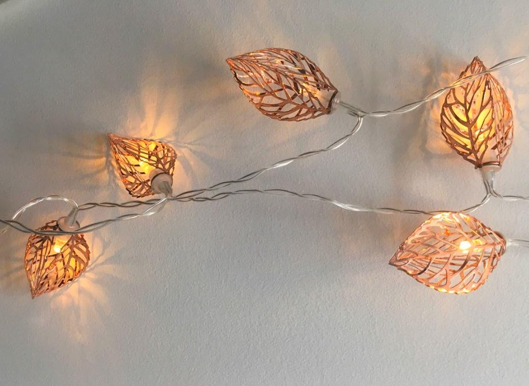 huge discount 5a896 0165e Copper Fairy Lights - Leaves