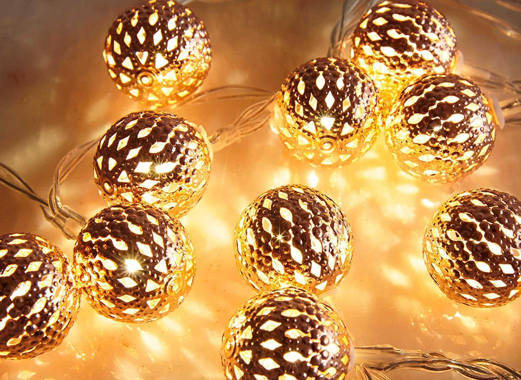 Copper Fairy Lights - Mini Moroccan Balls
