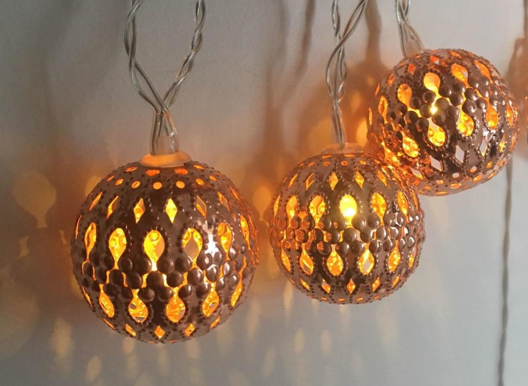 Copper Fairy Lights - Moroccan Balls