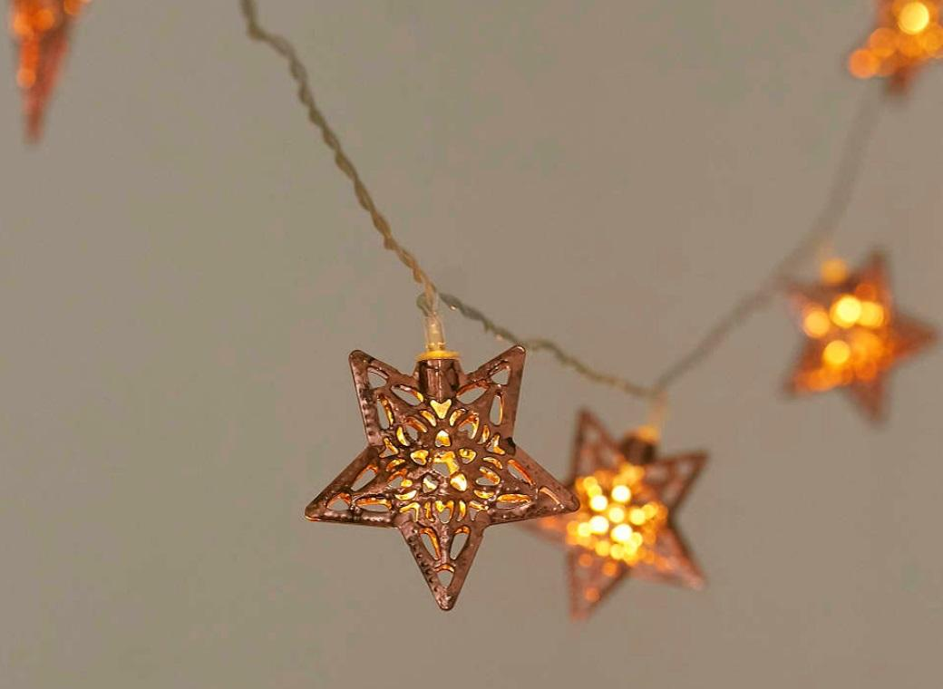 Copper Fairy Lights - Stars