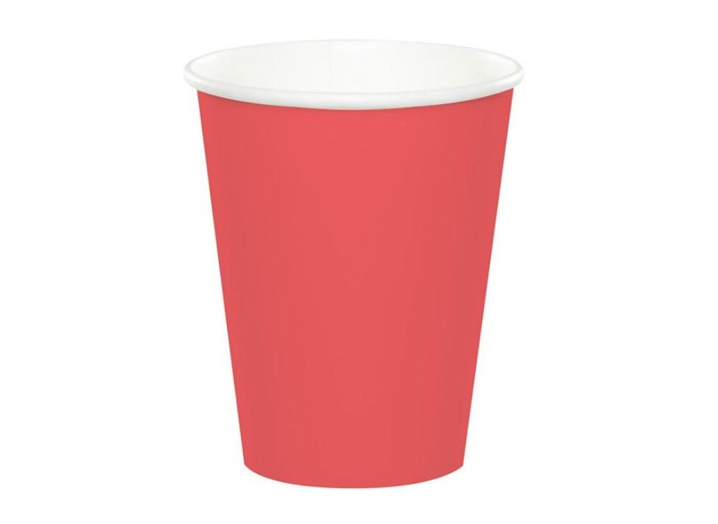 Paper Cups 12pk - Coral