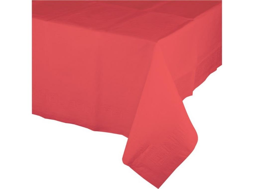 Coral Plastic Table Cloth