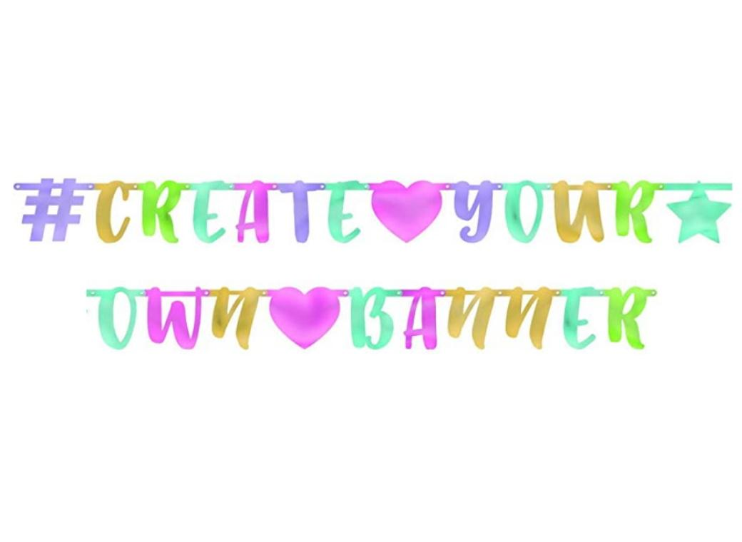 Create Your Own Pastel Banner
