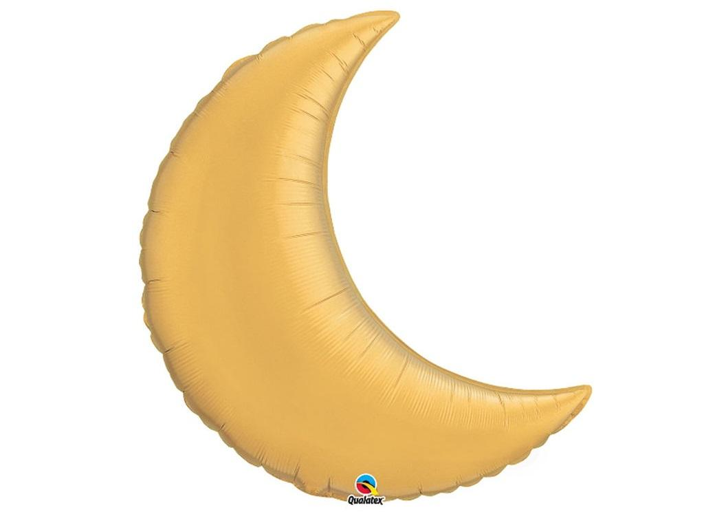 Crescent Moon SuperShape Balloon - Gold