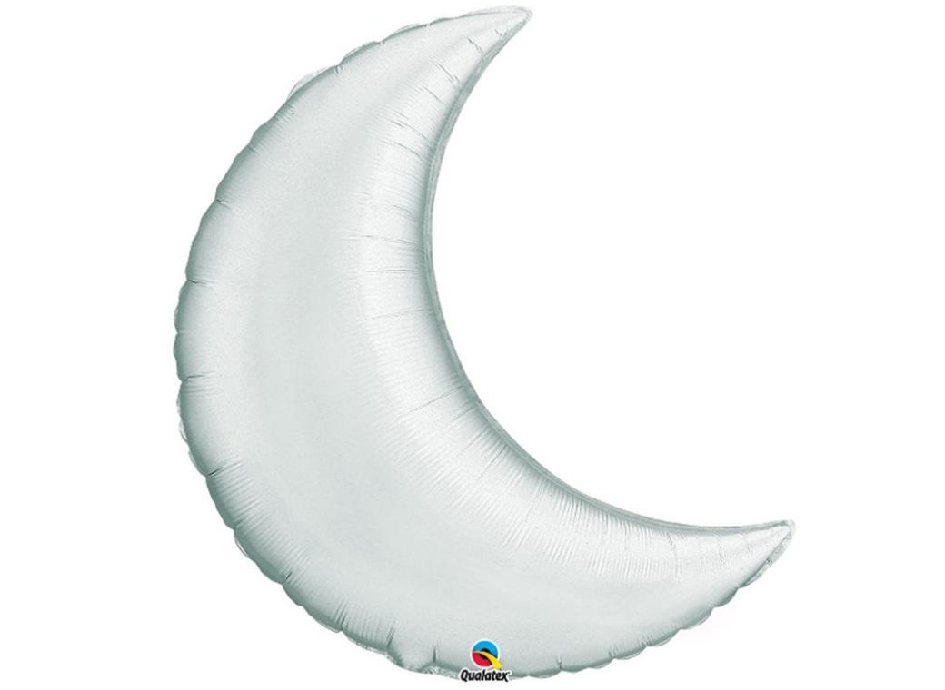 Crescent Moon SuperShape Balloon - Silver
