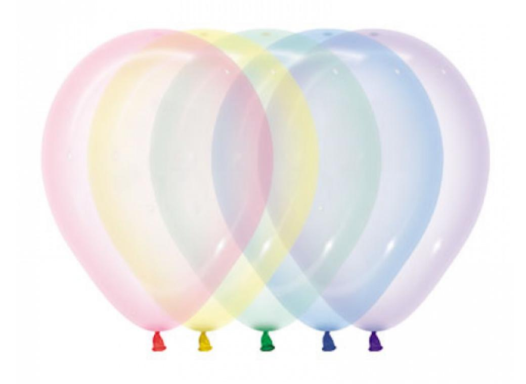 Crystal Balloons 25pk - Pastel Assorted
