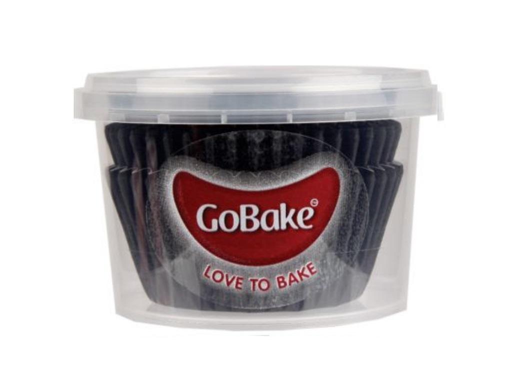 Cupcake Cases 72pk Black