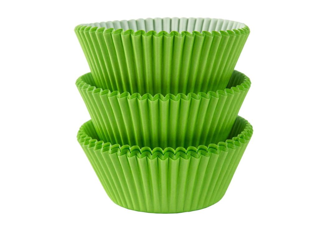 Cupcake Cases 75pk Lime Green
