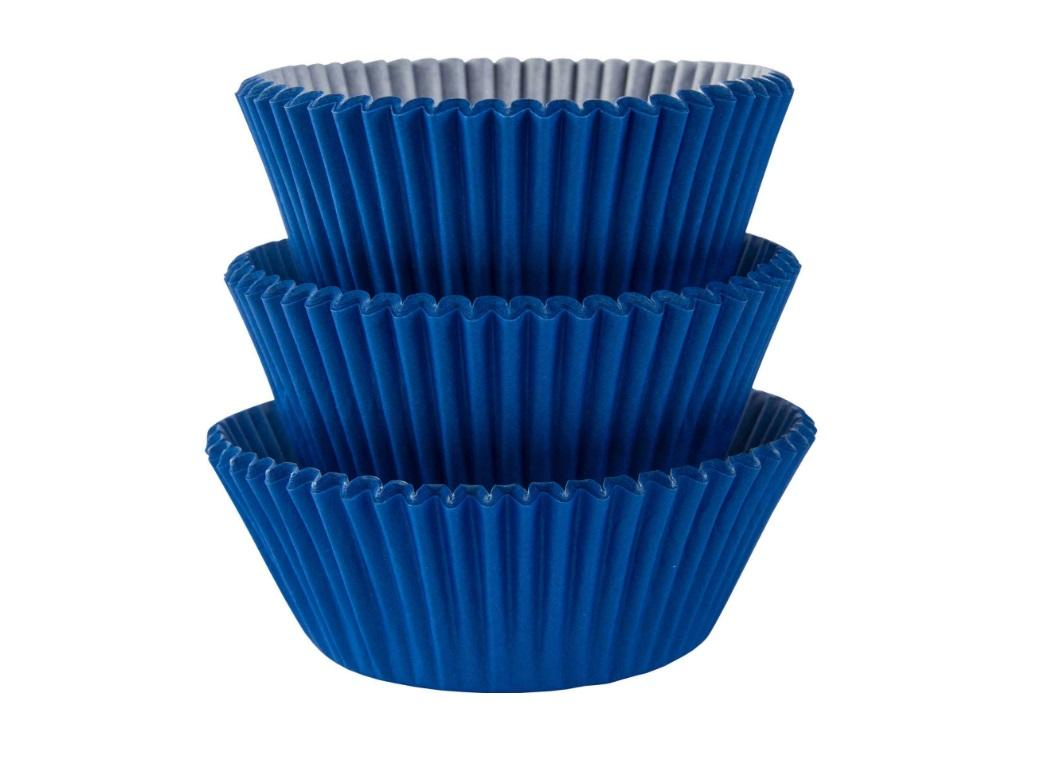 Cupcake Cases 75pk Royal Blue