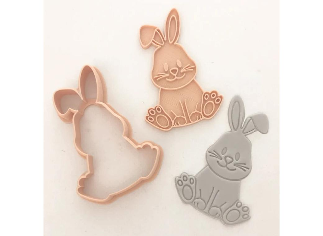 Cute Bunny Cutter & Embosser Set