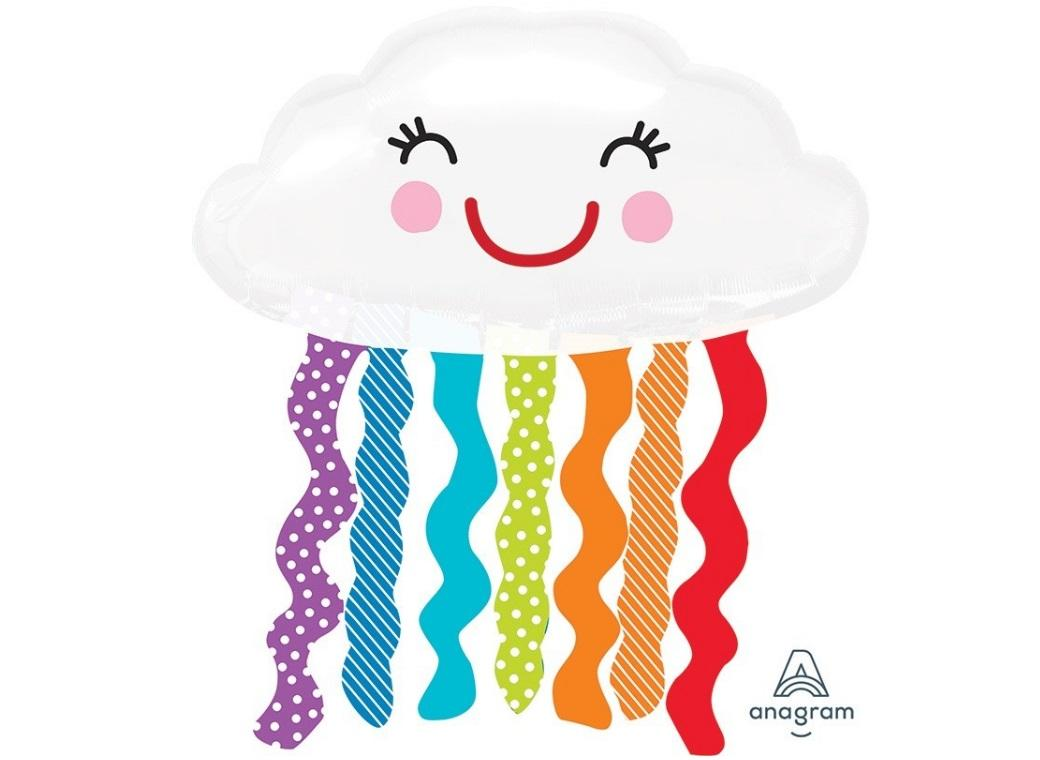 Cute Cloud Shape Balloon - Rainbow