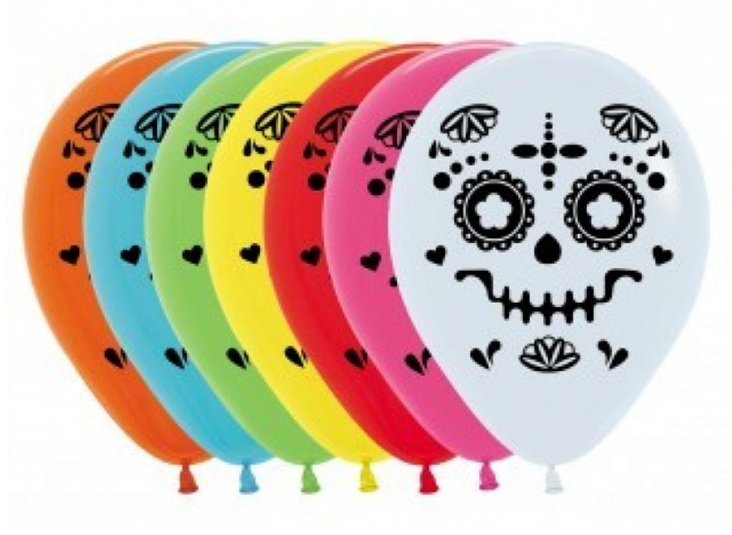 Day Of The Dead Balloons 12pk