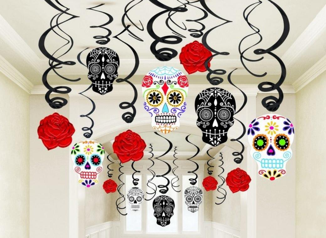Day of the Dead Hanging Swirl Decorations