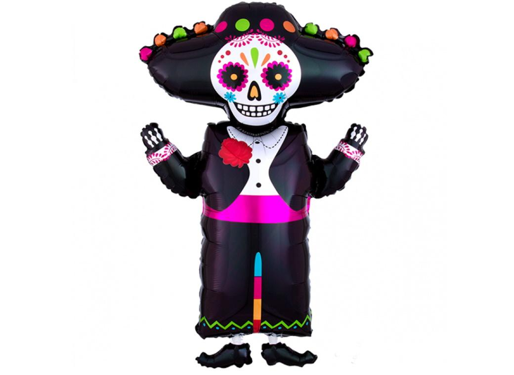 Day Of The Dead Skeleton SuperShape Foil Balloon