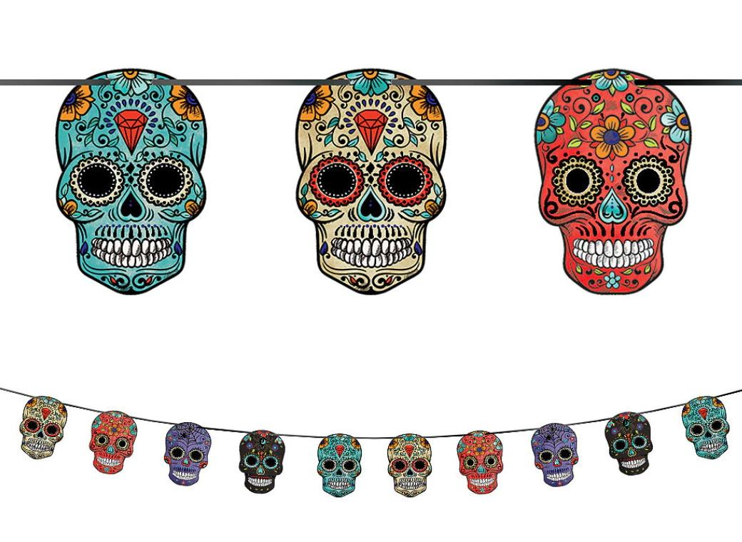 Day of the Dead Sugar Skull Garland