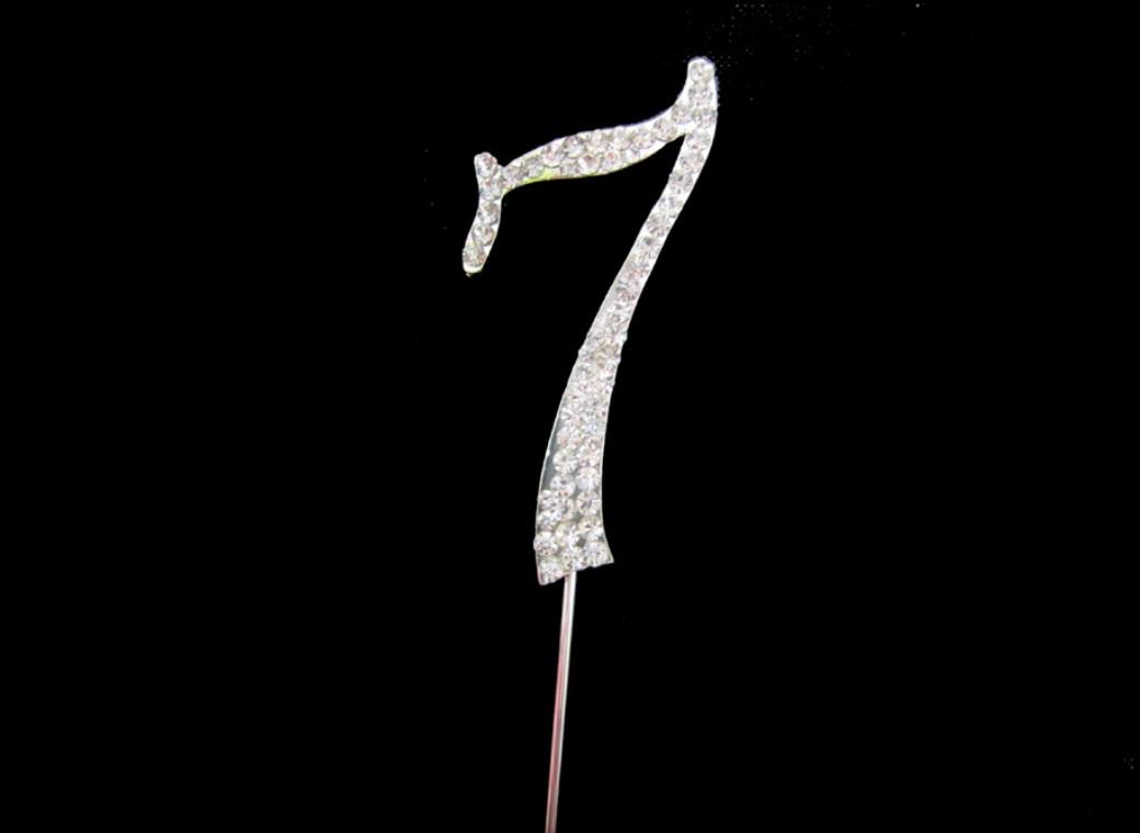 Diamante Cake Topper - Number 7