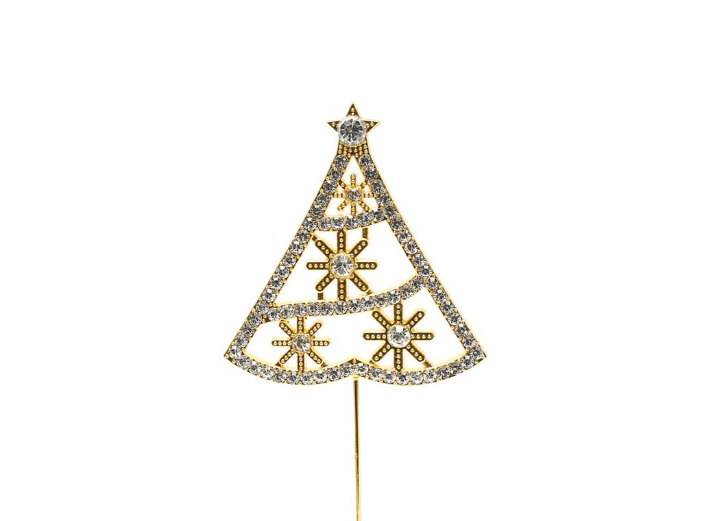 Diamante Gold Christmas Tree Topper