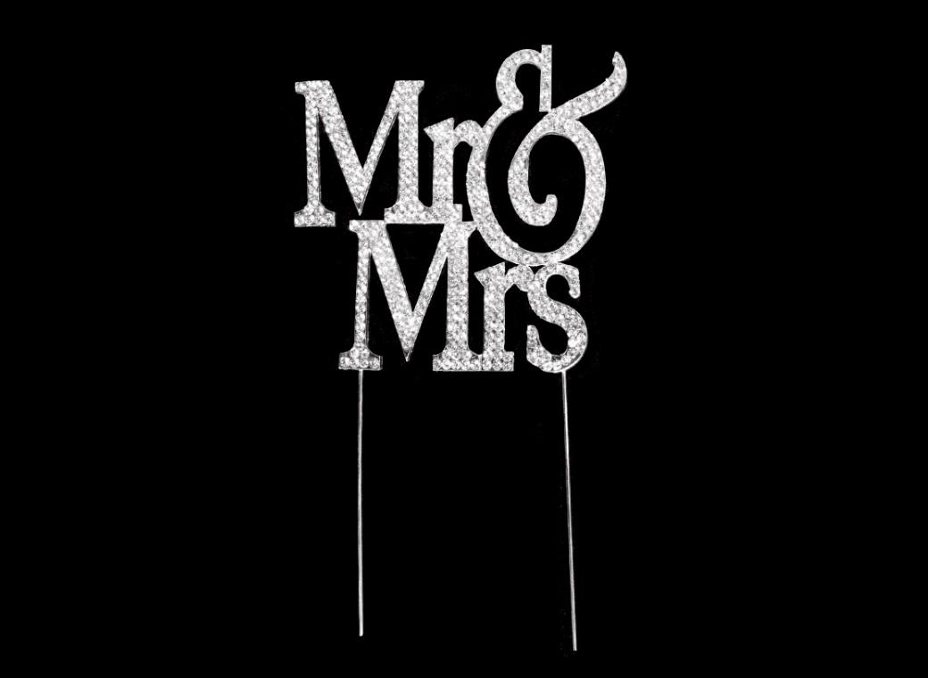 Diamante Cake Topper - Mr & Mrs