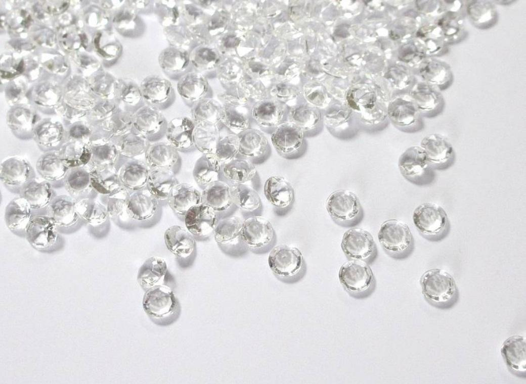 Acrylic Scatter Diamonds - Clear 8mm