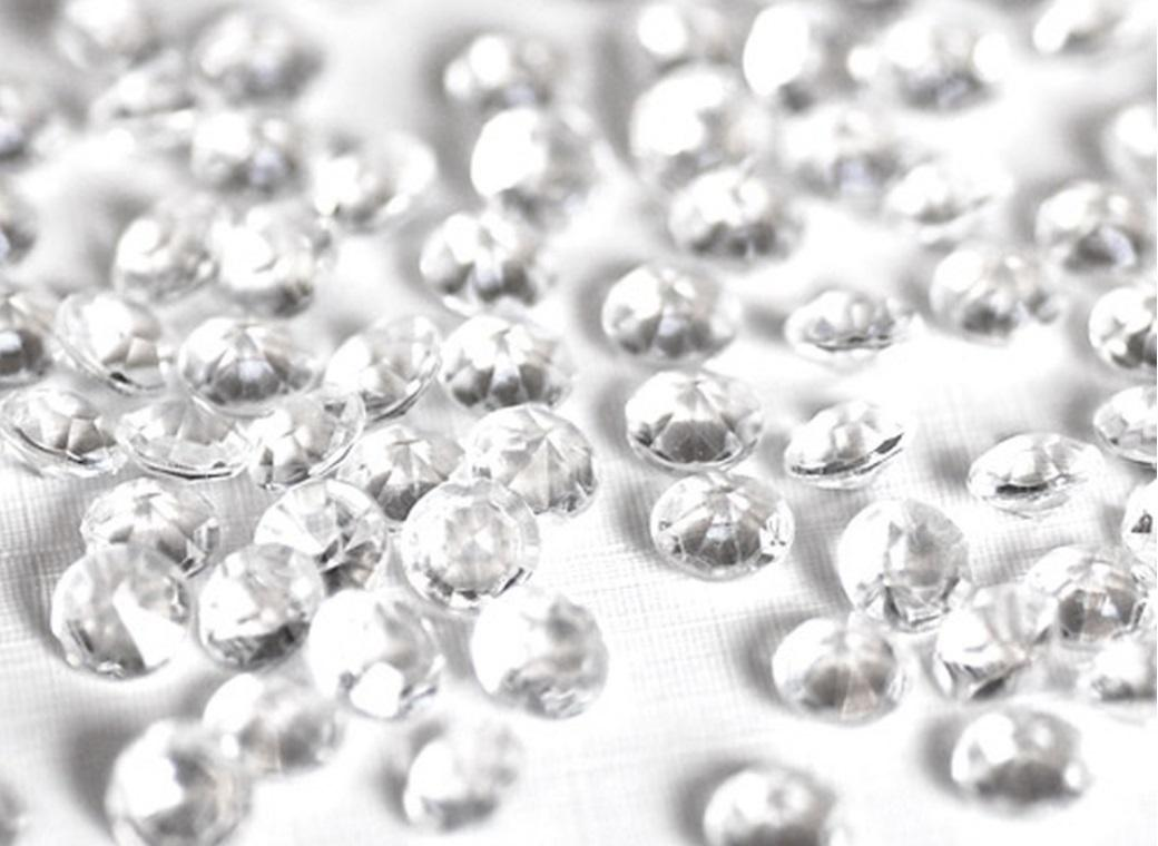 Acrylic Scatter Diamonds - Clear 19mm