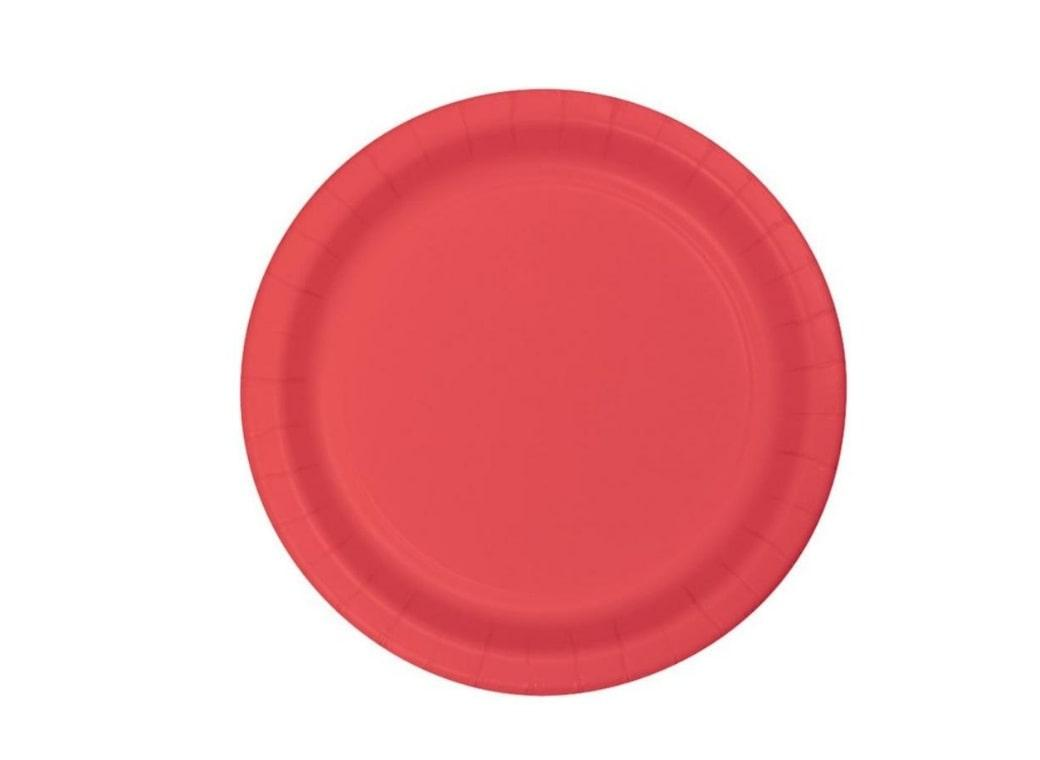 Dinner Plates - Coral - 12pk