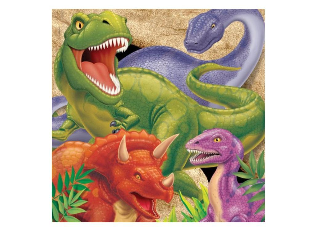 Dino Blast Lunch Napkins 16pk