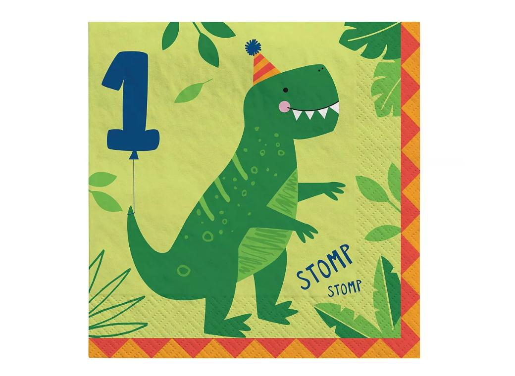Dino-Mite 1st Birthday Lunch Napkins 16pk