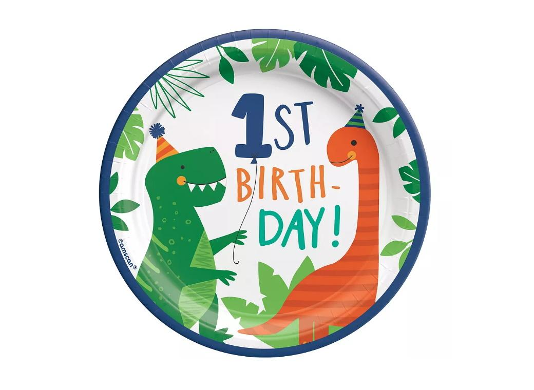 Dino-Mite 1st Birthday Lunch Plates 8pk