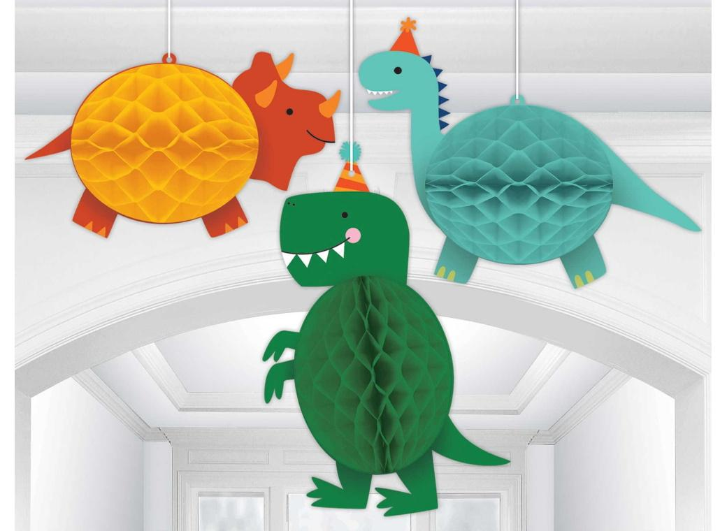 Dino-Mite Honeycomb Hanging Decorations