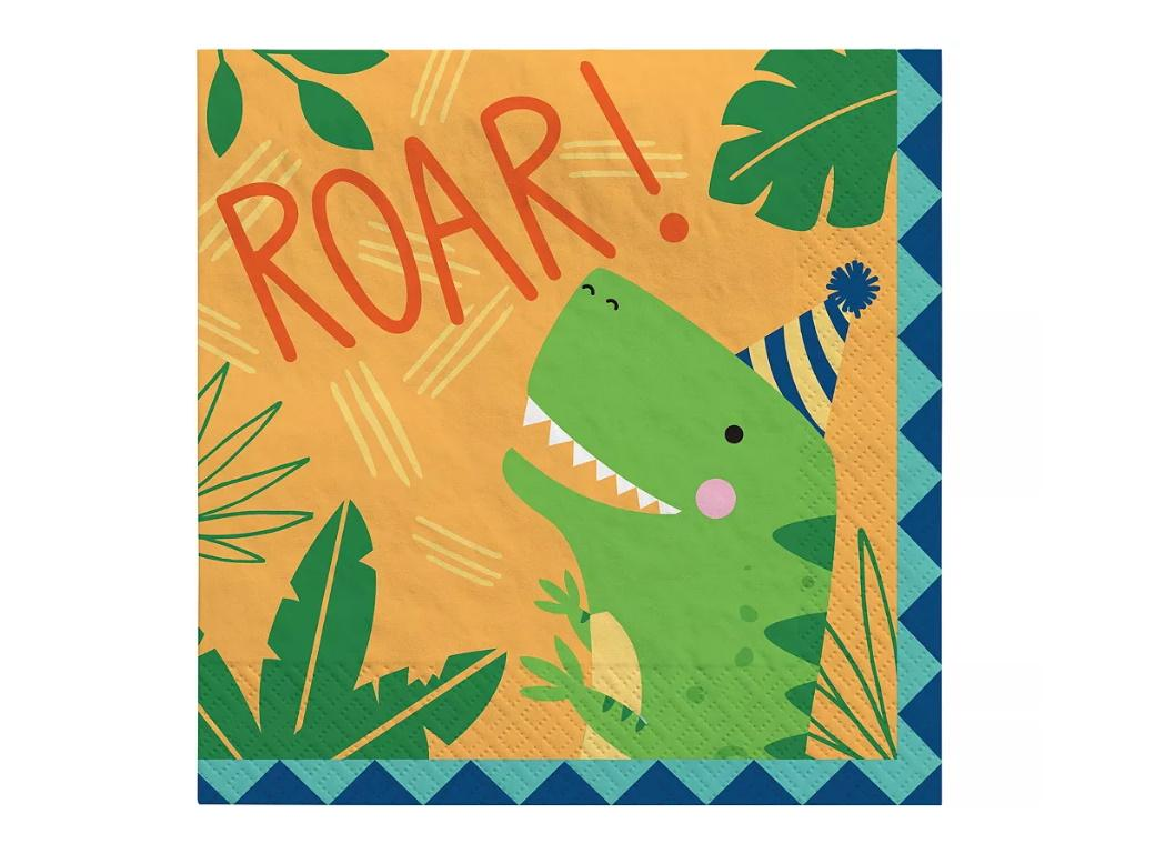 Dino-Mite Lunch Napkins 16pk