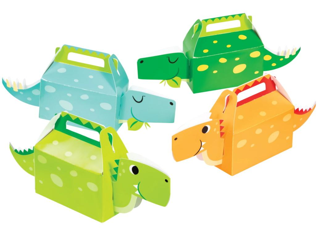 Dino Party Boys Treat Boxes 4pk