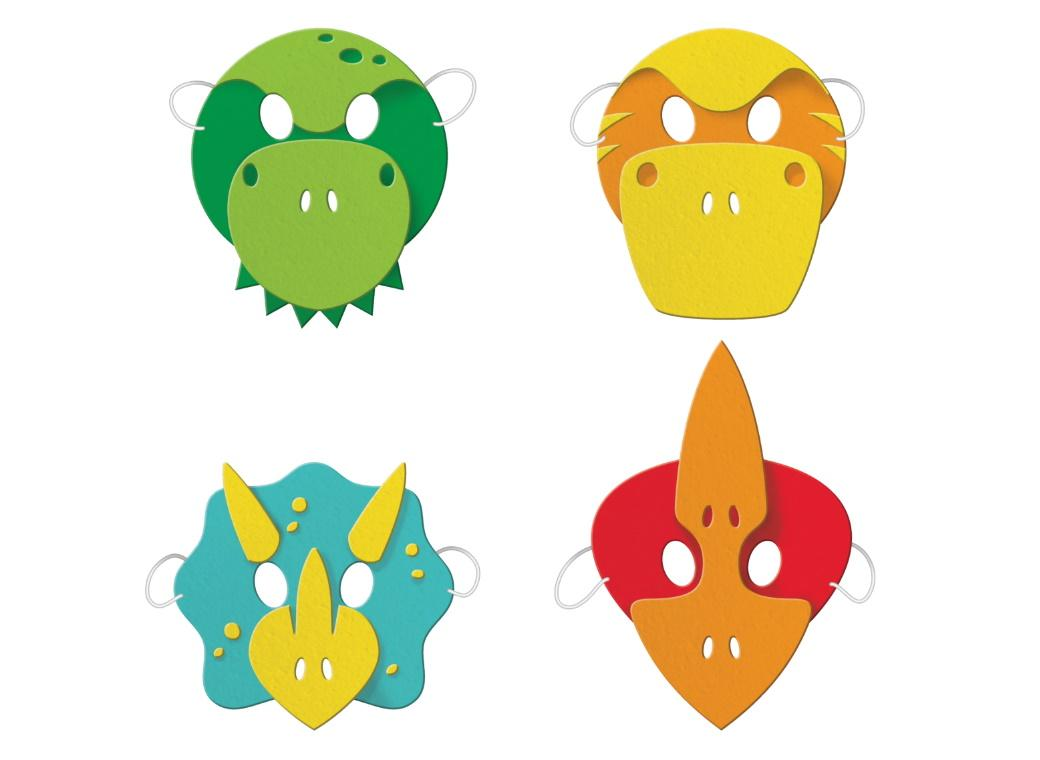 Dino Party Foam Masks 4pk
