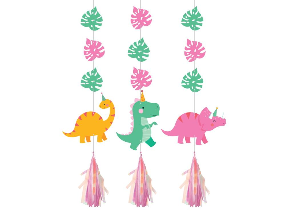 Dino Party Iridescent Hanging Cutouts