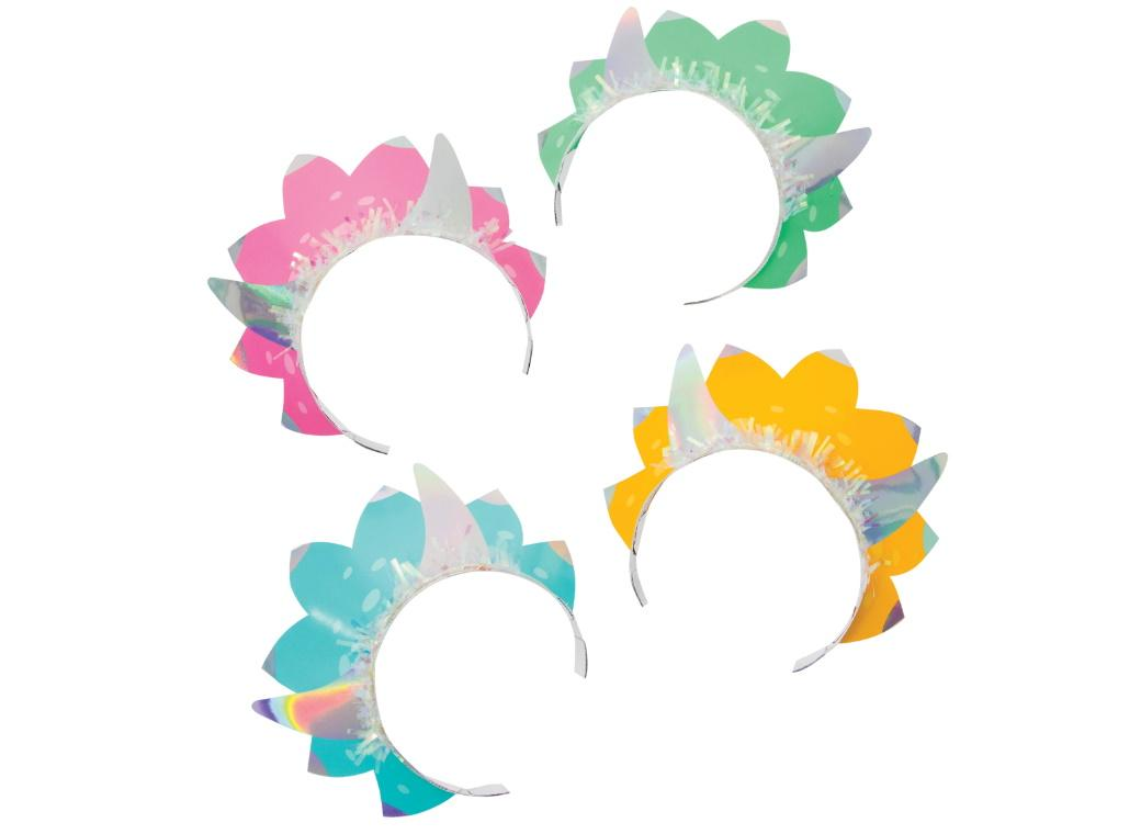 Dino Party Iridescent Tiaras 8pk