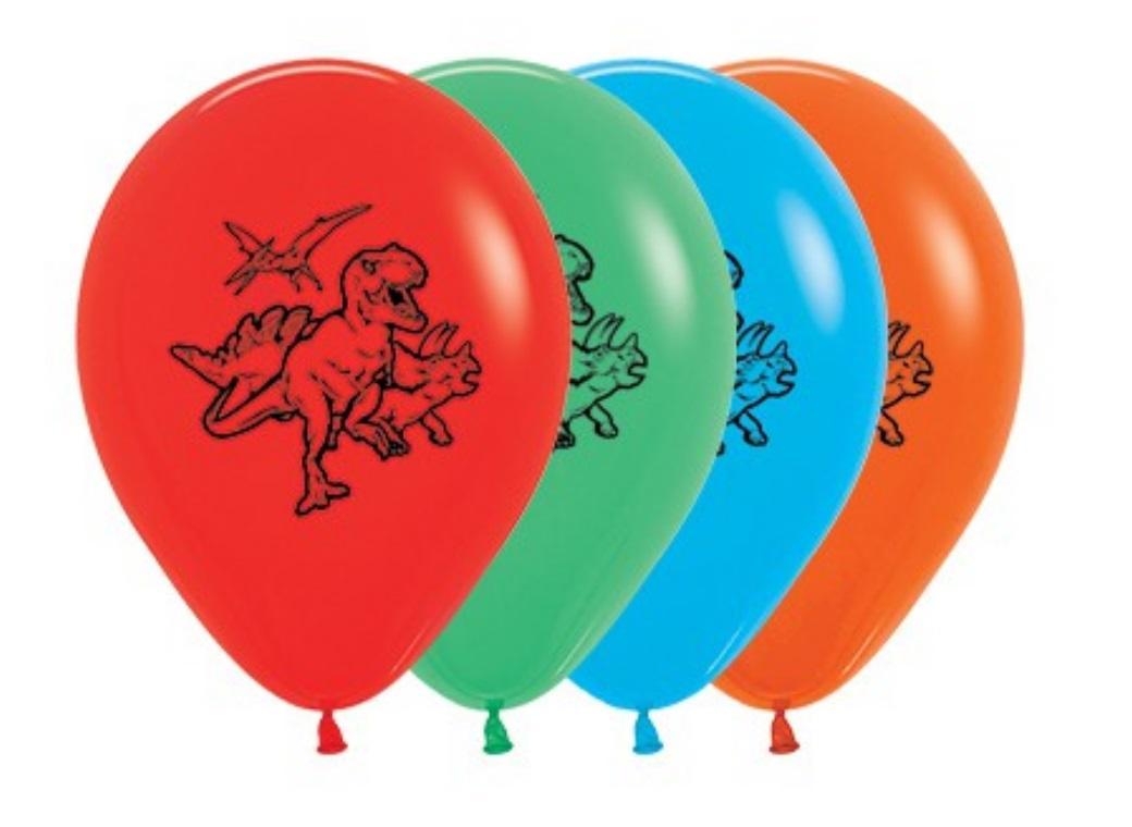 Dinosaur Balloons Multi 5pk
