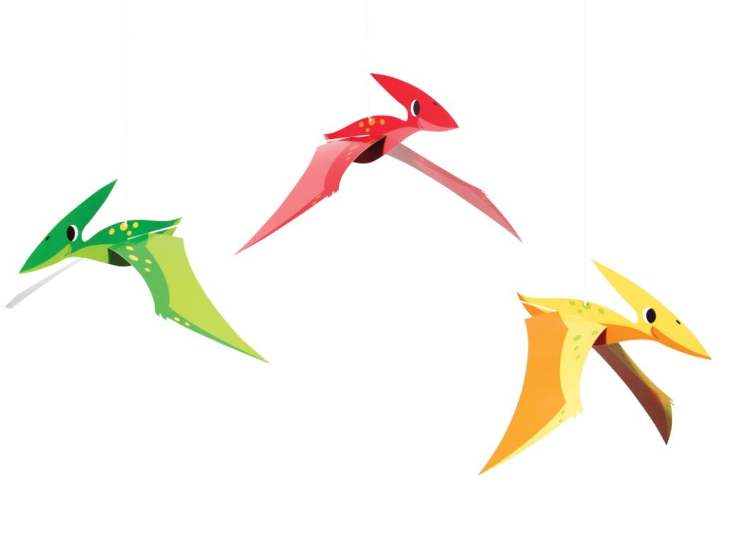 Dino Party Pterodactyl Hanging Decorations