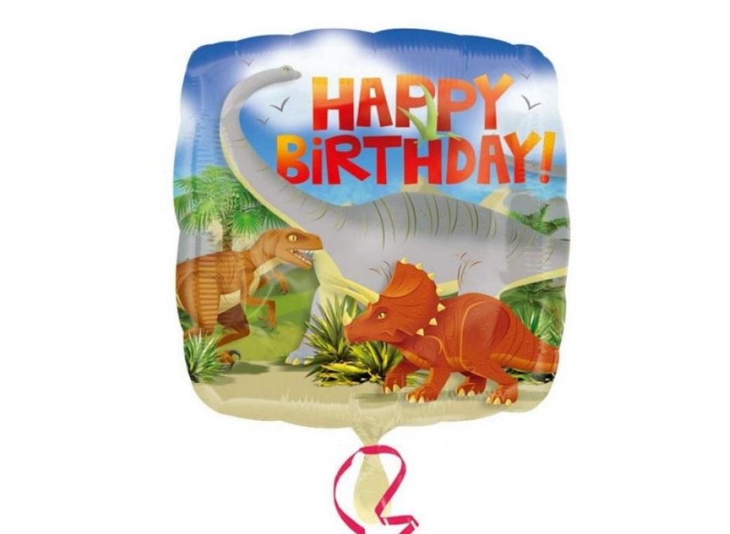 Dinosaur Happy Birthday Foil Balloon
