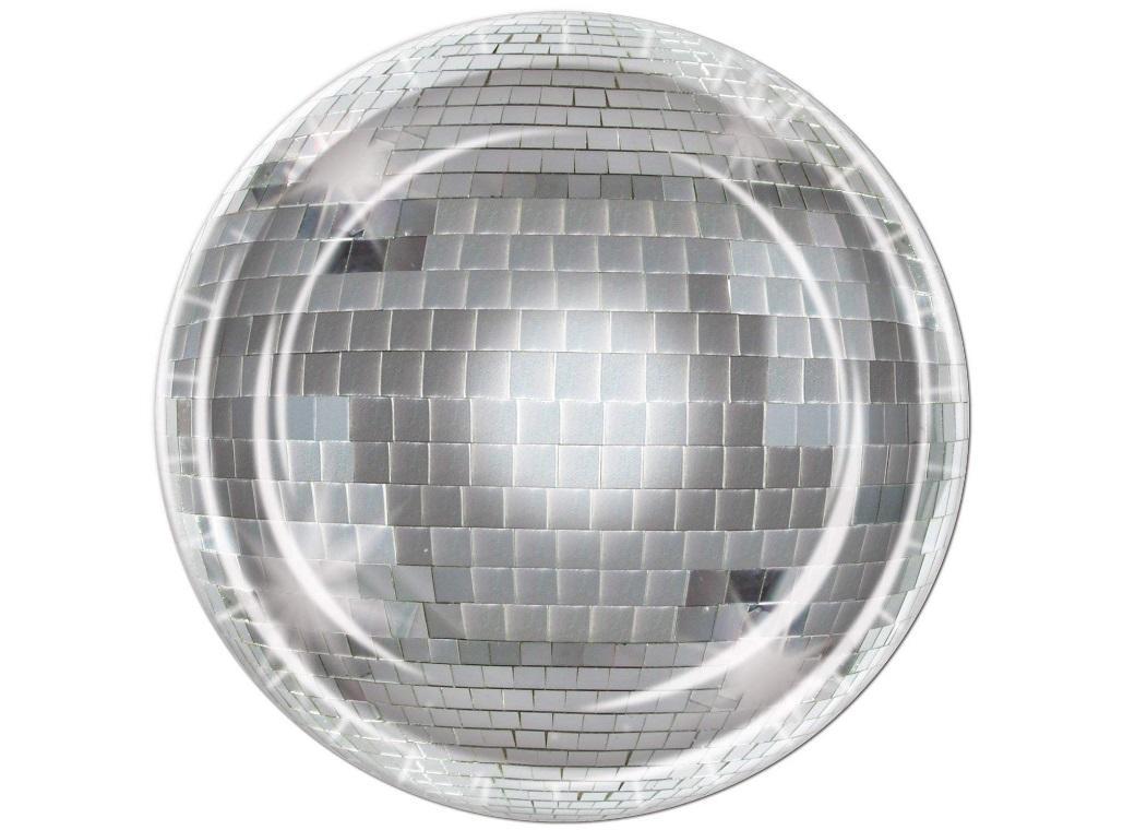 Disco Ball Dinner Plates 8pk