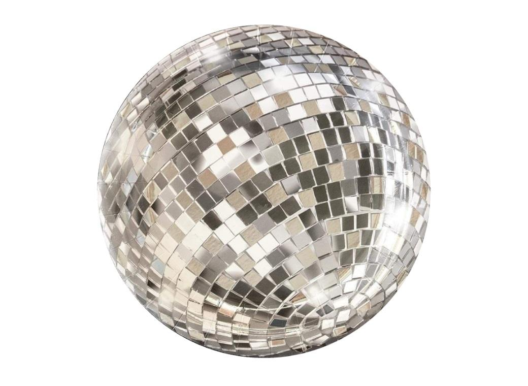 Disco Ball Lunch Plates 12pk